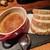 スパイラル - 料理写真:白レバームース メルバトースト添え