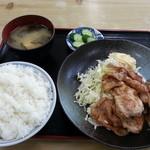 竹家食堂 - 850えん 豚肉しょうが焼き定食