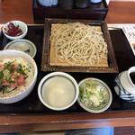 彩め庵 - 料理写真:もりそばミニ丼セット、950円税別。