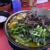 上越家 - 料理写真:大盛ラーメン(¥920)+きくらげ(¥80)+ほうれん草と小松菜のMix盛(¥150)+ライス白(¥150)