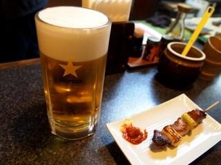 かしら屋 - 生ビール
