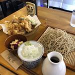 三代目佐久良屋 - 国産鳥もも天ぷらせいろ¥1000