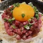 肉の宇佐川 - 有田牛炙りユッケ丼