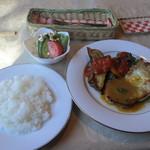 キッチン彩 - そしてこの日のメインのお皿が運ばれてきました。