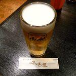 炭火焼肉 やなぎ家 - カップルセットの生ビール
