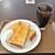 ホリーズカフェ - 料理写真:モーニングトーストゆで卵セット(390円)