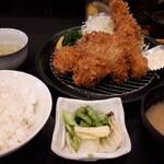 とんかつ 勝 - 海鮮ミックス定食 1700円