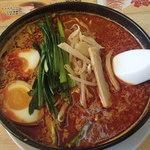 来来亭 - 旨辛麺(レベル5)真っ赤かです(汗)