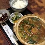 鶴林古 - 味噌煮込みうどん定食  850円