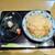 若菜そば - 料理写真:天ぷらそばとおにぎり