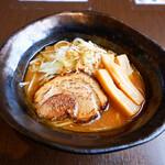 小川流 - 【10/1-11/15限定麺】濃厚焦がし味噌らーめん