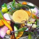 オステリア アルコバレーノ - 料理写真:調布野菜と契約農家野菜のバーニャカウダ