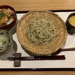 小料理なごみ - 料理写真:【セットメニュー】蕎麦・茶碗蒸し・角煮丼