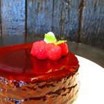 Cafe AZZURRO - 2012 クリスマスケーキ ピスタチオのチーズケーキ
