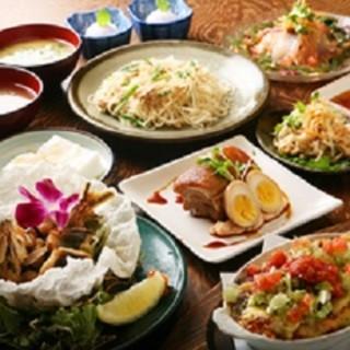 沖縄料理満喫フルコース(2名様より)