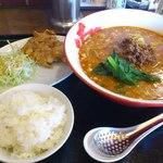 中華麺屋たのしや - 唐揚げセット+300円