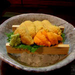 串揚げ くし将 - ウニの盛合わせ(バフン、エゾムラサキ&ムラサキ)