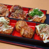 たこやき座 - 6種類の味が楽しめる【たこやき三昧】780円