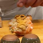 寿司 あさ海 - 料理写真:寿司あさ海(松川エビと萩のうに)