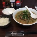 RAMEN BASHAYA - こってり肉ラーメンに白飯