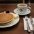 元町サントス - 料理写真:バターホットケーキ&珈琲