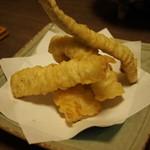明島 - 料理写真:あなご天ぷら(通常は3切れ)
