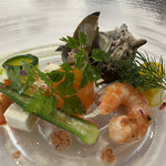 レストラン山崎 - 魚介のサラダ