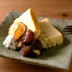 ごはんや一芯 - さつま芋のチーズケーキ