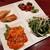フーロン - 料理写真:これは豪華~!日替わりの本格おかず4種類にスープやサラダ、デザート2種にジャスミン茶付き♪彩りプレート税込み1,100円