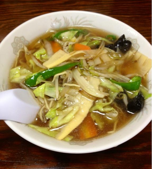 砺波 - 野菜麺(550円)