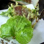 山菜料理 みたき園 - イタドリ、ユキノシタ等のてんぷら~