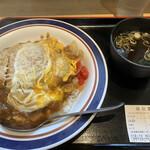 名代富士そば - カレーカツ丼(580円)