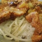 中華四川料理 もりた - 中華風醤油カツ丼のもやしいっぱい