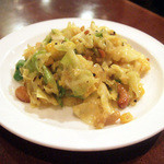 ガネーシュ - ディナーコース(2500円)のキャベツとコーンの炒め物