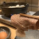 すき焼き 串カツ はるな - 柔らかな肉質