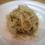 春香楼 - ジャガイモのシャキシャキサラダ500円 必ず頼む!美味しいヨ