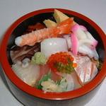 小田寿司 - 海鮮ちらし(赤だし付き)¥1700+税