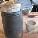 蕎麦 ふじおか - 日本酒の入れ物
