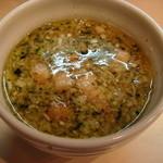 ひるがお - チャーシュー塩つけ麺(つけ汁)