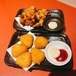 肉寿司 炭火焼鳥 食べ放題×全席完全個室 雪月花 - 唐揚げとチーズフライ