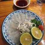 魚虎 - 料理写真:活)トラフグ刺 1800円