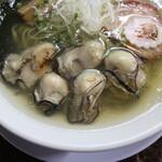 自家製麺 ら~めん かり屋 - 絶品の牡蠣達