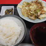 中国料理 黒龍 - ガツ炒め定食