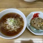 ラーメン とんかつ 忠 - 料理写真:半チャーハンセット 950円税込