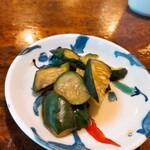 うずら家 - ⚫漬物 胡瓜を甘酢漬けに