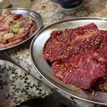 焼肉一力 - 料理写真:ハラミとタン塩二人前づつ
