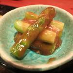 うまいもの 楽味 - 季節野菜の盛合わせ (アスパラくるみ和え)