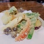 うずら家 - ⚫お野菜の天ぷら盛り合わせ