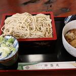 錦盛庵 - 料理写真:ミニ生姜焼き丼+蕎麦