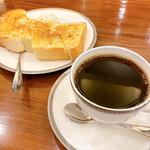 茶豆珈琲 - シナモントーストとコーヒー